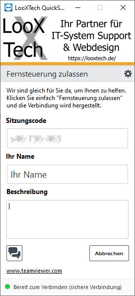Screenshot des Remote Clients