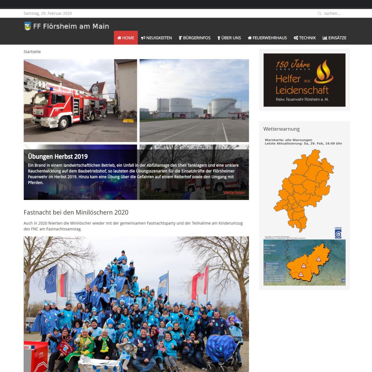 Screenshot von feuerwehrfloersheim.de